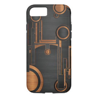 black metal with wood circles iPhone 8/7 case