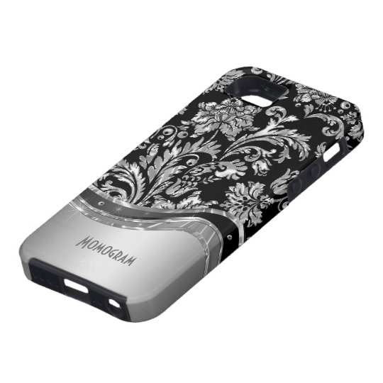 Black & Metallic Damasks Pattern Case For The