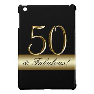 Black Metallic Gold 50th Birthday iPad Mini Cover