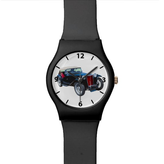 Black Mg Tc Antique Car Watch
