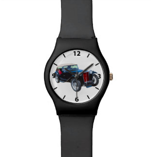 Black Mg Tc Antique Car Wrist Watches