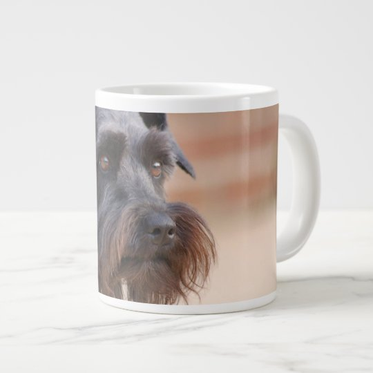 Black Miniature Schnauzer Large Coffee Mug