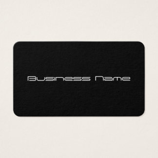 Black Minimalist Business Card