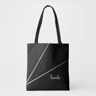 Black Minimalist line design | Tote Bag