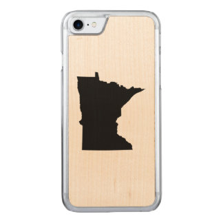 Black Minnesota Map Shape Carved iPhone 8/7 Case