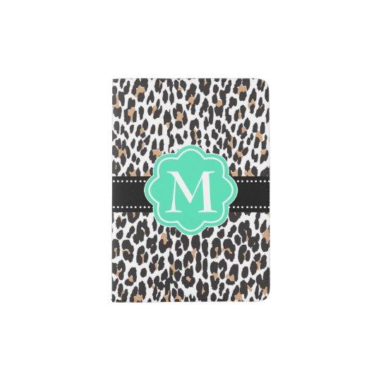 Black & Mint Leopard print monogram cool Passport
