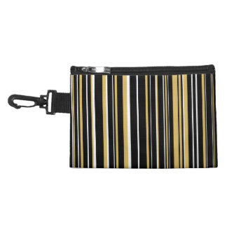 Black, Misted Yellow, White Barcode Stripe Accessories Bags