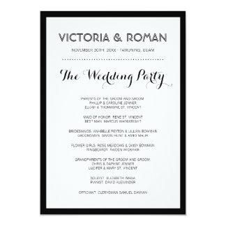 Black Modern Minimalist Wedding Programs 13 Cm X 18 Cm Invitation Card