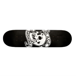 Black Monday Returns skull skate deck
