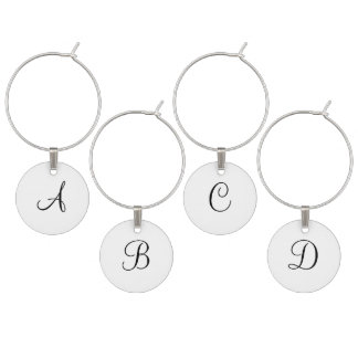 Black Monogrammed Wedding Favors