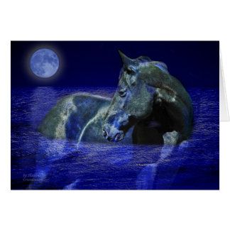 Black Moon Horse Greeting Card