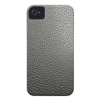 Black more leather iPhone 4 cover