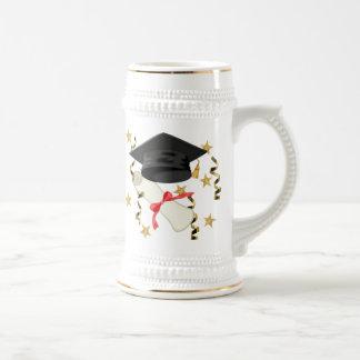 Black Mortar and Diploma Graduation Coffee Mug