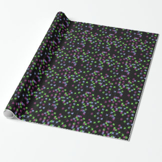 black mosaic wrapping paper