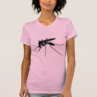 Black Mosquito Side View Graphic T-Shirt