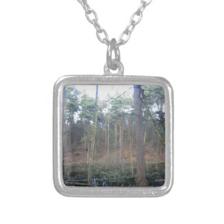Black Moss in Delamere Forest, Cheshire Personalized Necklace