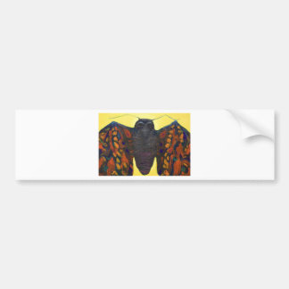 Black Moth (surreal insect painting) Bumper Sticker