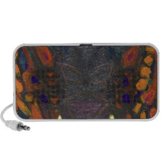 Black Moth surreal insect painting iPhone Speaker