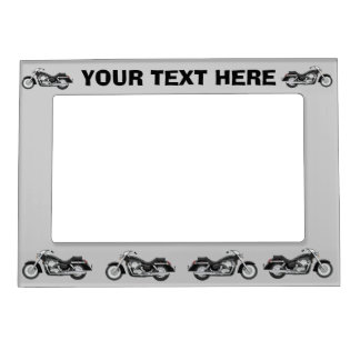 Black motorbike on any color magnetic frame