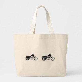 Black Motorcycle Bag