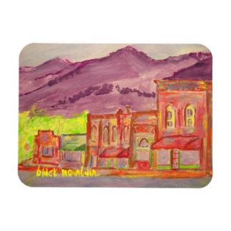 black mountain art rectangular photo magnet