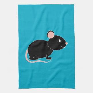 Black Mouse. Tea Towel