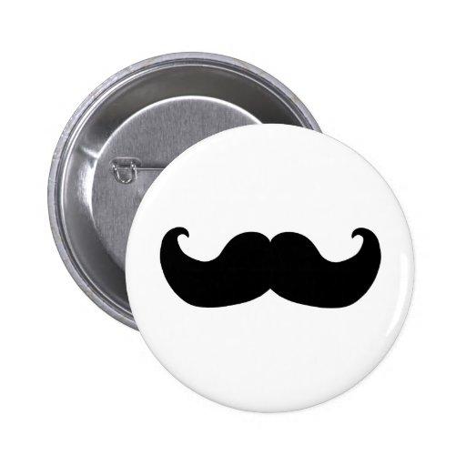 Black Moustache 6 Cm Round Badge