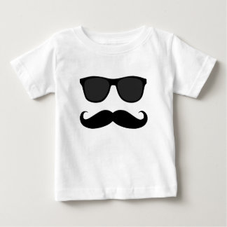 Black Moustache and Sunglasses Humour Gift Baby T-Shirt