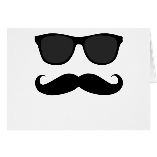 Black Moustache and Sunglasses Humour Gift Cards