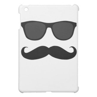 Black Moustache and Sunglasses Humour Gift Case For The iPad Mini