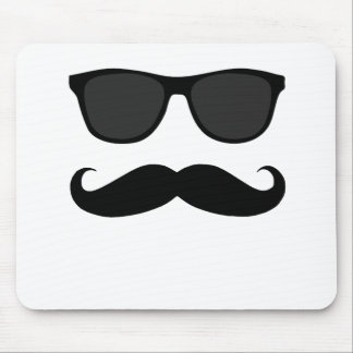 Black Moustache and Sunglasses Humour Gift Mouse Mat