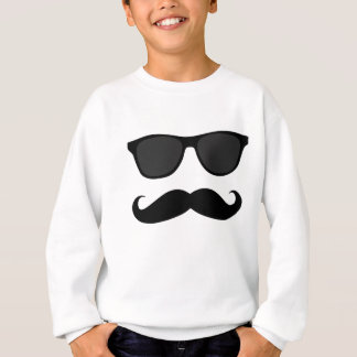 Black Moustache and Sunglasses Humour Gift Sweatshirt
