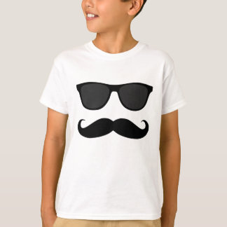 Black Moustache and Sunglasses Humour Gift T-Shirt
