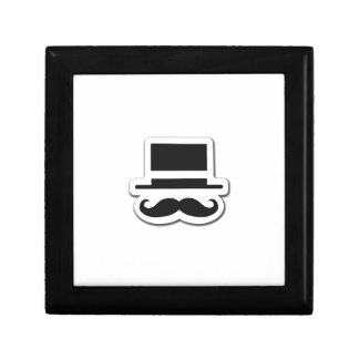 Black Moustache with Cylinder Hat Gift Box