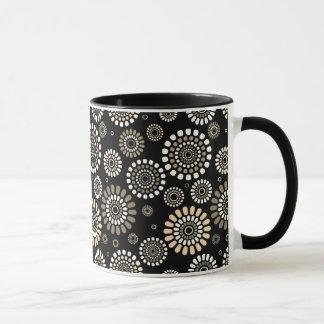 Black mug With Flowery Subject