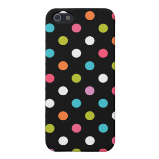 Black Multicolor Polka Dot Case For The iPhone 5