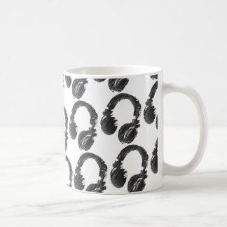 black music deejay headphone coffee mug