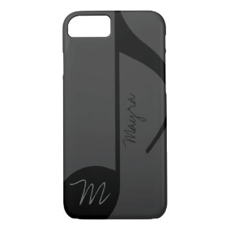 black music-note personalized iPhone 8/7 case
