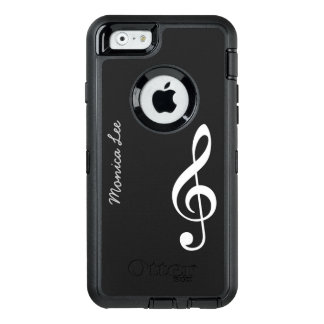 black music note personalized OtterBox iPhone 6/6s case