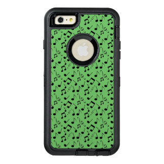Black Musical Notes Design Otter Box OtterBox iPhone 6/6s Plus Case
