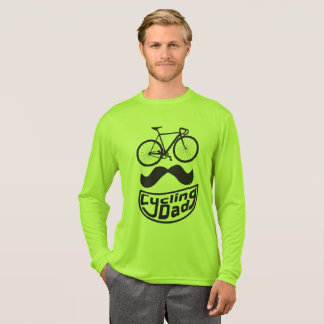 Black mustache bicycle Smile Cycling dad T-Shirt