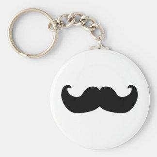Black Mustache Keychains