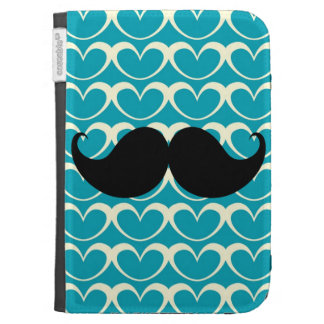 Black Mustache on 70s Retro Background Case For Kindle