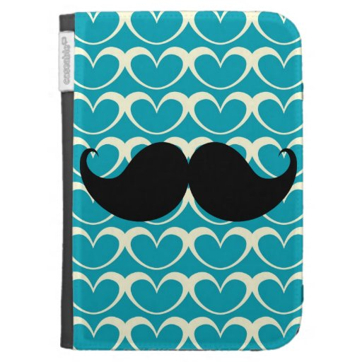 Black Mustache on 70s Retro Background Kindle 3G Case