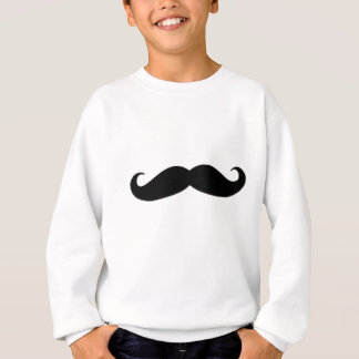 Black Mustache or Black Moustache for Fun Gifts Sweatshirt