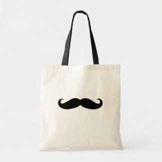 Black Mustache or Black Moustache for Fun Gifts Tote Bag