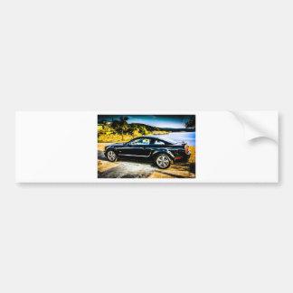 Black Mustang GT Bumper Sticker