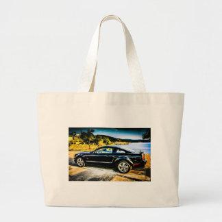 Black Mustang GT Jumbo Tote Bag