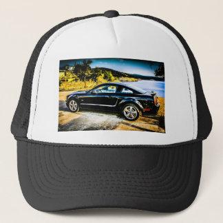 Black Mustang GT Trucker Hat