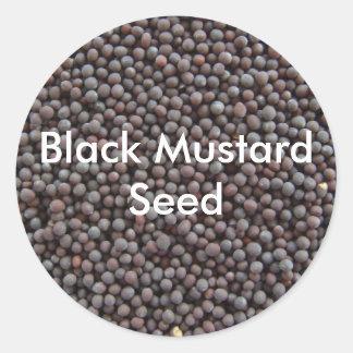 Black Mustard Classic Round Sticker